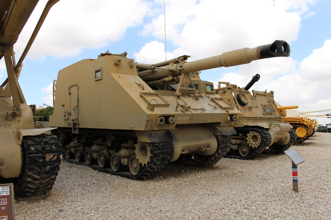 1122 Israel. SPG auf Sherman Fahrgestell